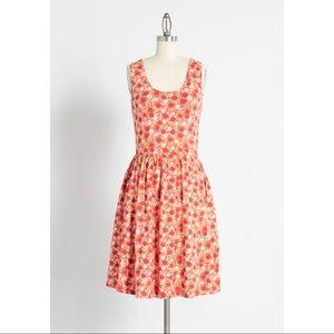 Modcloth Mata Traders Orange Dress